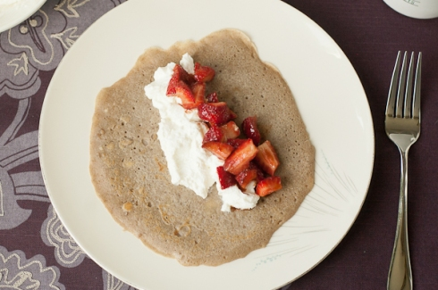 buckwheat crepe, ready to roll