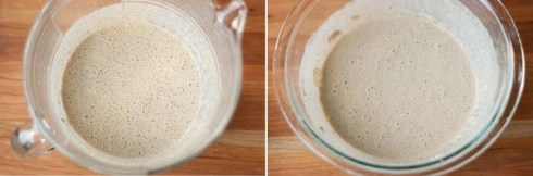 mixing buckwheat crepe batter - gf and wheat
