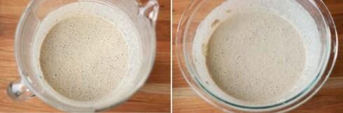 mixing buckwheat crepe batter - gf and wheat